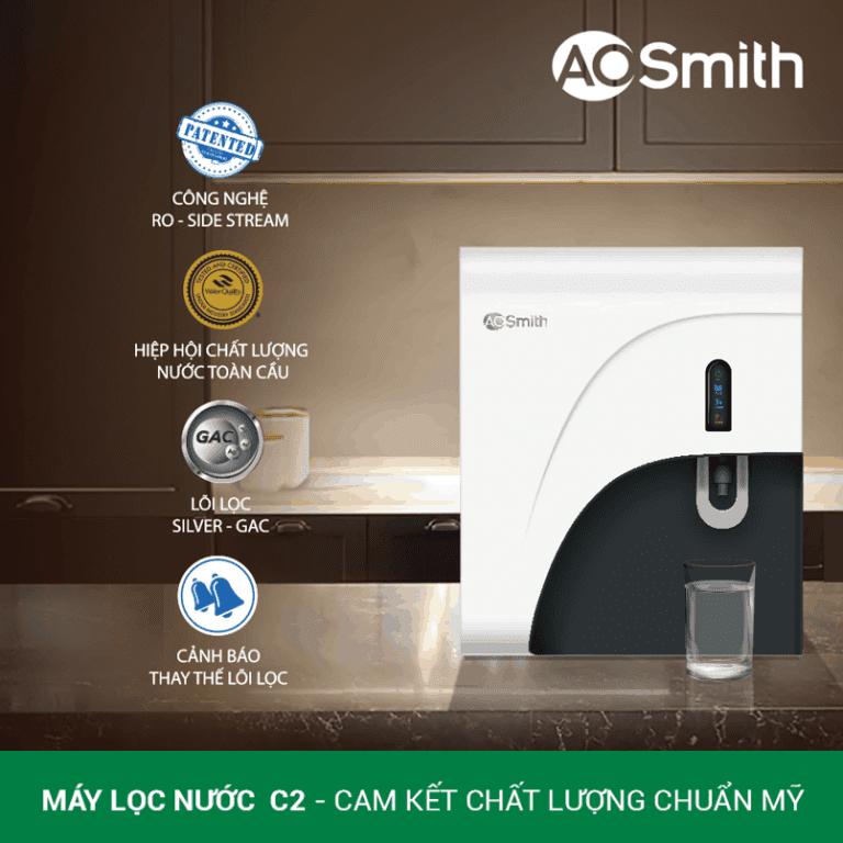 Tình năng máy lọc nước RO – Side Stream A. O. Smith C2